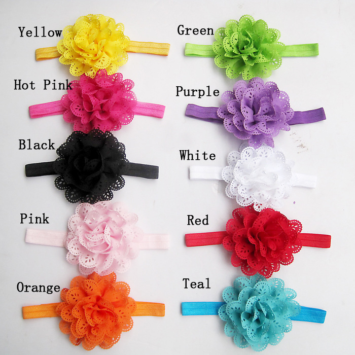10Pcs/Pack Baby Girls Headbands Newborn Toddler Hollow Out Flower Headdress Specification:A pack of 10
