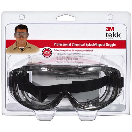 TEKK 91264-80025 Professional Chemical Splash and Impact Goggle