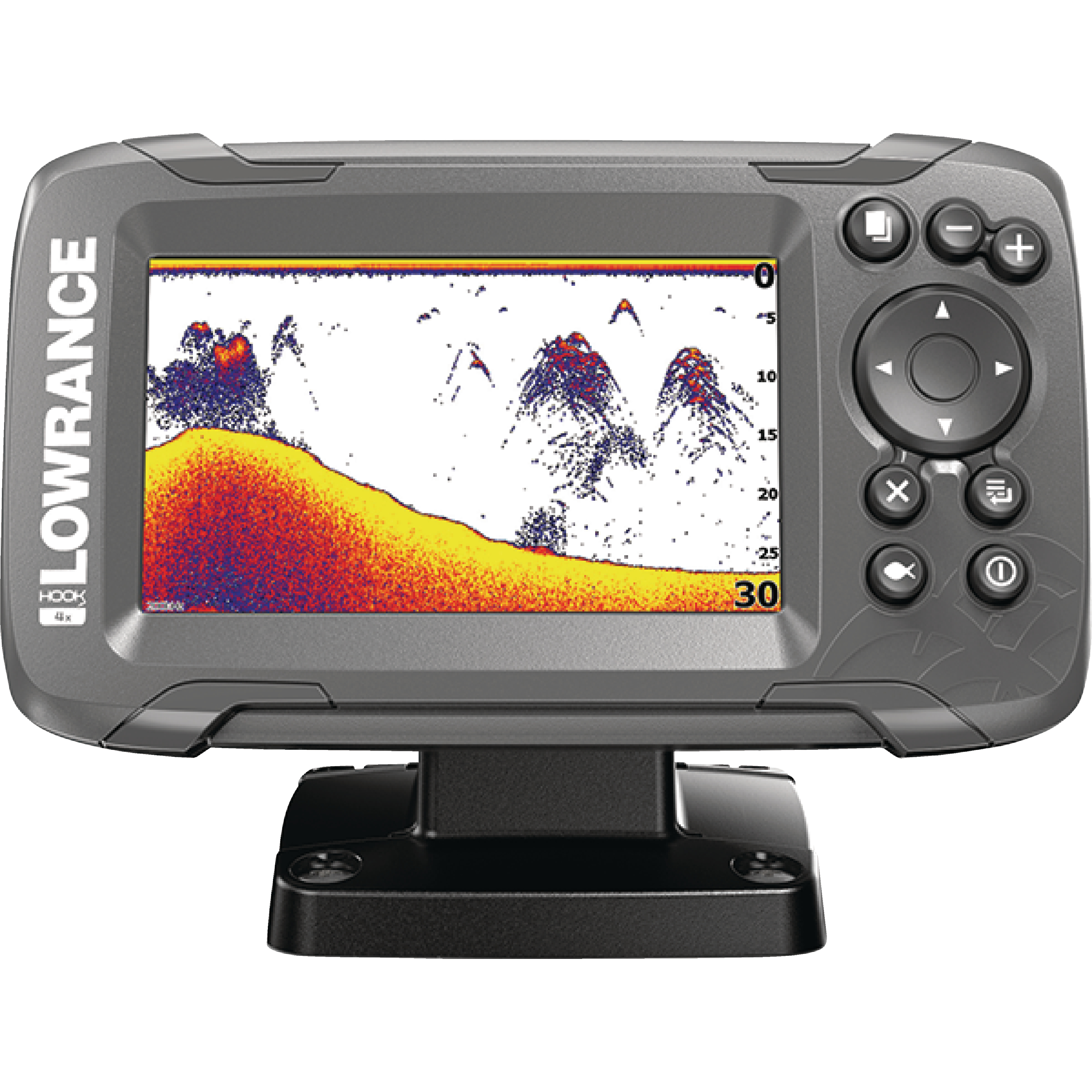 """Lowrance 000-14012-001 HOOK-2 4X Fishfinder with Bullet Skimmer Transducer, Autotuning Sonar & 4"""" Display"""