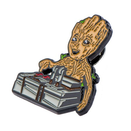 (Guardians of the Galaxy Baby Groot & Bomb Enamel Collector Pin, Toynk Exclusive)