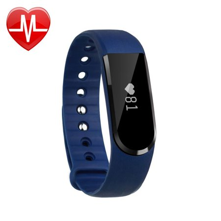 Letscom Fitness Tracker Watch  Bluetooth 4 0 Heart Rate Monitor Bracelet  Ip67 Waterproof Touch Screen Smart Bands With Activity Tracker For Iphone Android Smartphone Blue