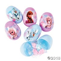 Candy-Filled Disney Frozen™ Plastic Easter Eggs - 16 Pc