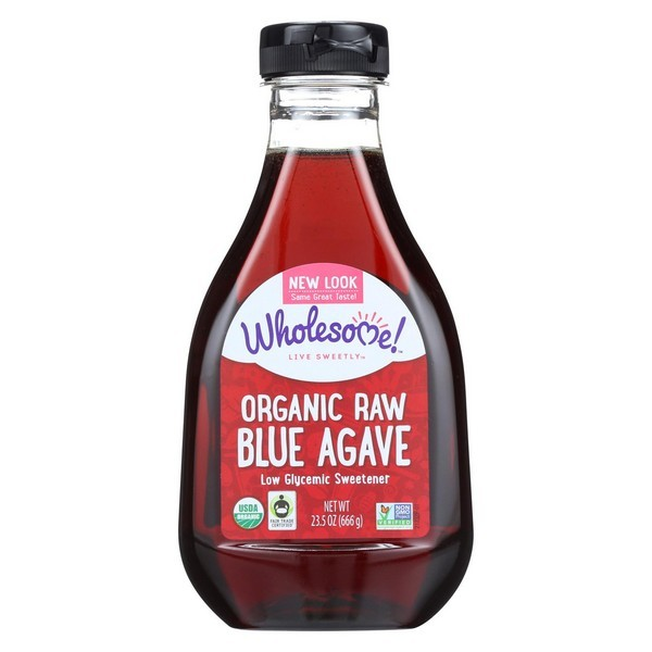 Wholesome Sweeteners Organic Raw Blue Agave - pack of 6 - 23.5 Oz.