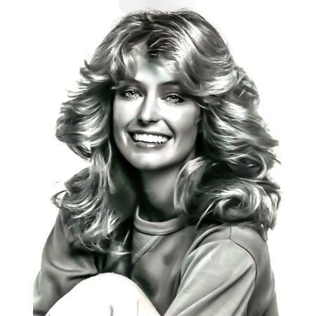 Canvas Print Farrah Fawcett Face Female 70's Icon Portrait Stretched Canvas 10 x 14 - Farrah Fawcett Outfits