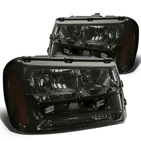- For 02-09 Chevy Trailblazer EXT Headlight Smoked Housing Amber Corner Headlamps 03 04 05 06 07 08 Left+Right