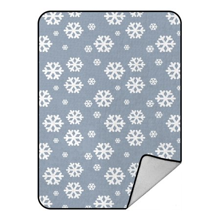 ZKGK Snowflake Blanket Crystal Velvet Front and Lambswool Sherpa Fleece Back Throw Blanket - Lambswool Snowflake