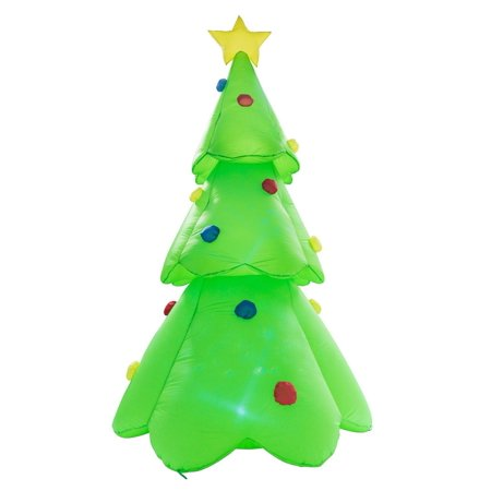 Buy-Hive 8.8ft Inflatable Flash Lighted Tree Ornaments Holiday Lawn Yard Mall Decor - Inflatable Christmas Tree
