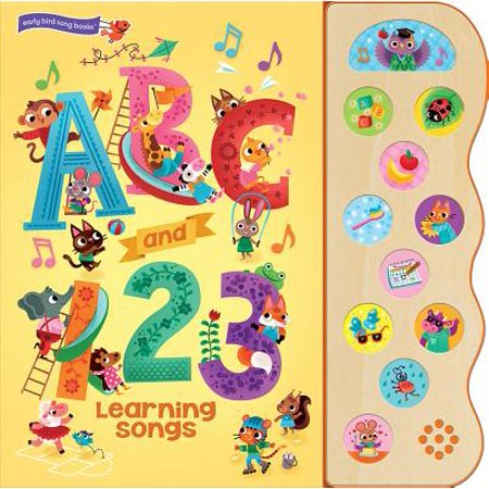 ABC and 123 Learning Songs: Deluxe Sound Book Wood Module (Board - Learning The Alphabet Song