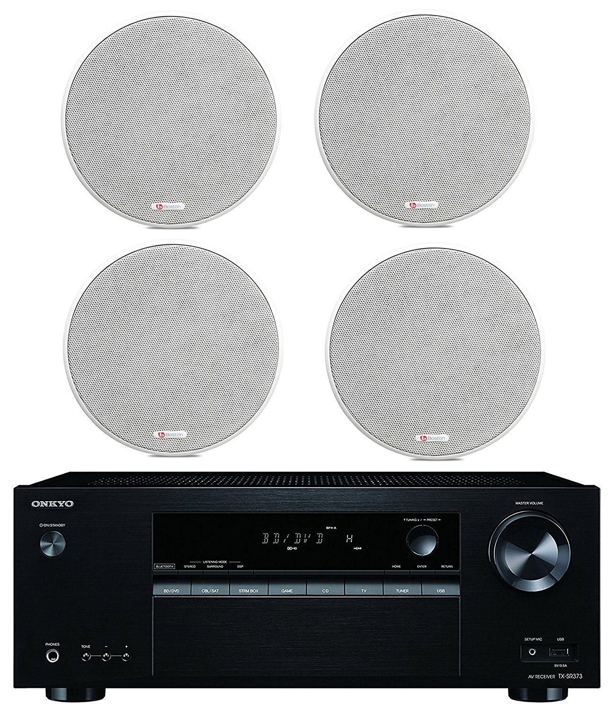 "Onkyo 5.2 Channel Full 4K Bluetooth AV Home Theater Receiver + Boston Acoustics 6-1 2"" 2 Way High-Performance... by Onkyo"