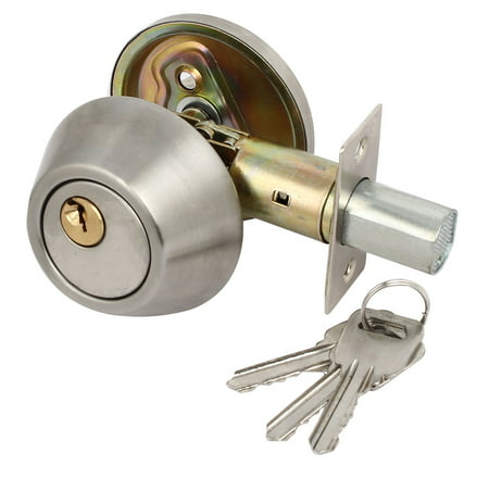 (Home Office Metal Privacy Ball Knob Door Locks With Keys Lockset 83mmx65mm)