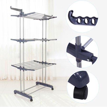 Yosoo Foldable Multifunction Clothes Drying Racks Walmartcom