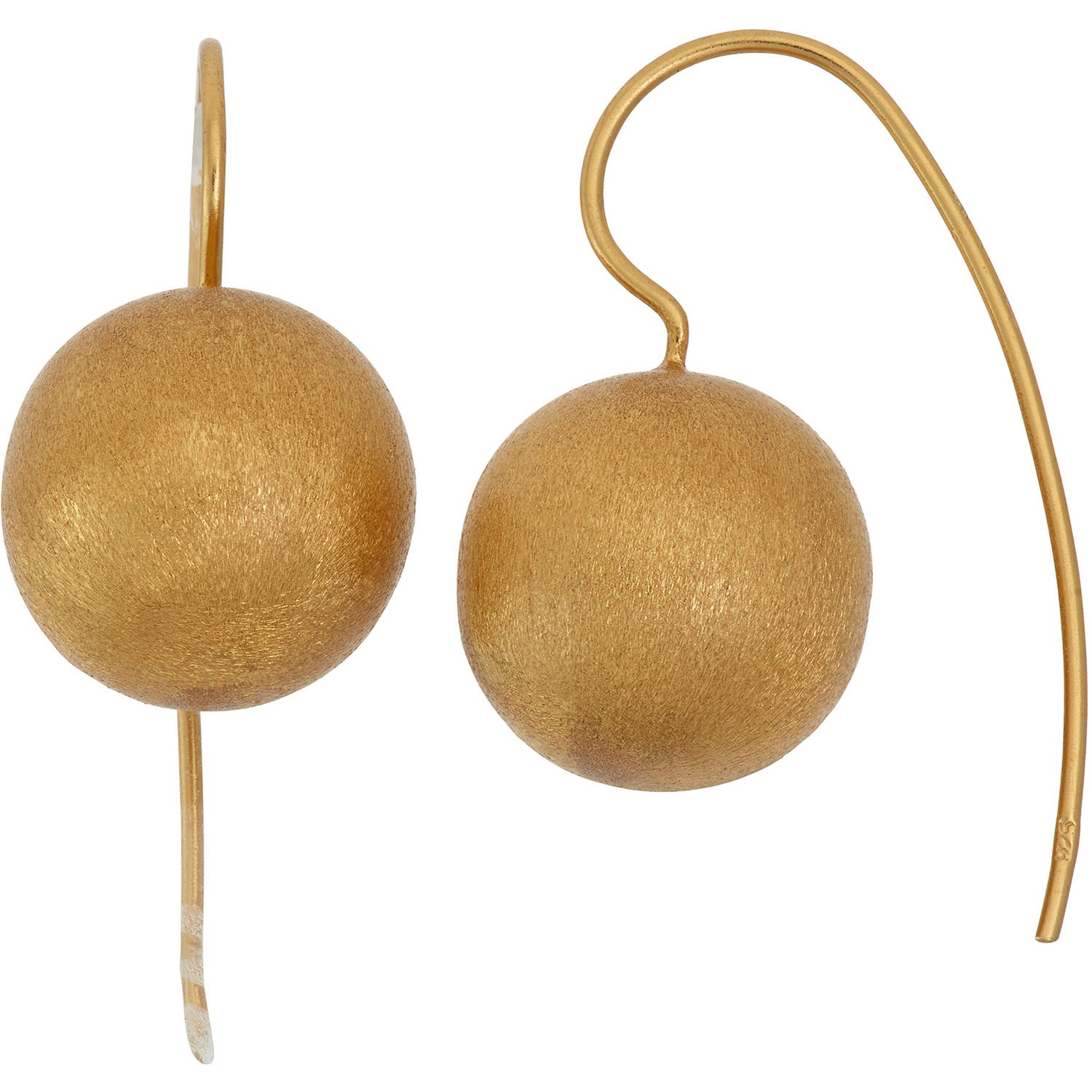 Image of 5th & Main 14kt Gold-Plated Satin Finish Ball Earrings
