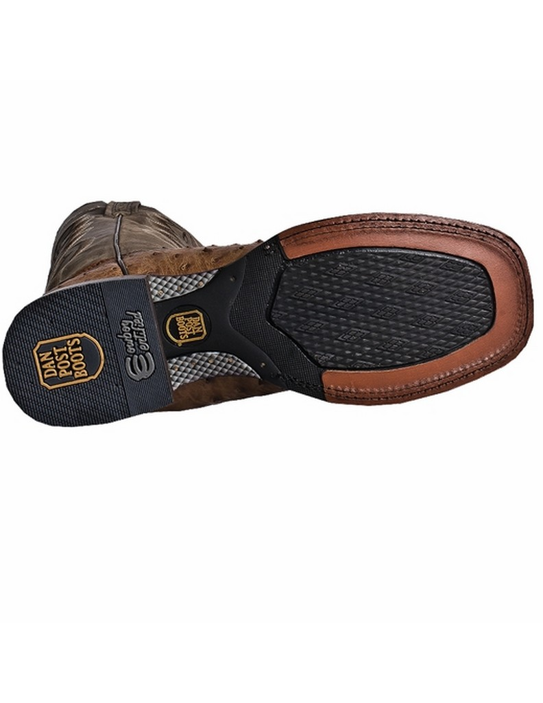 Dan Post Men's C C Saddle Brown Full Quill Ostrich Chandler Western Boots DP2984