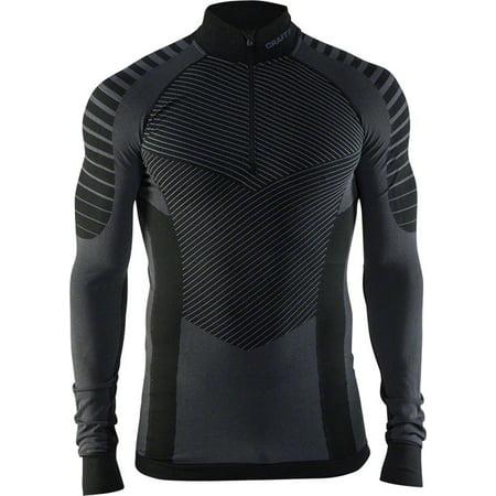 Craft Active Intensity Men's Base Layer Zip Neck Top Black/Granite XL