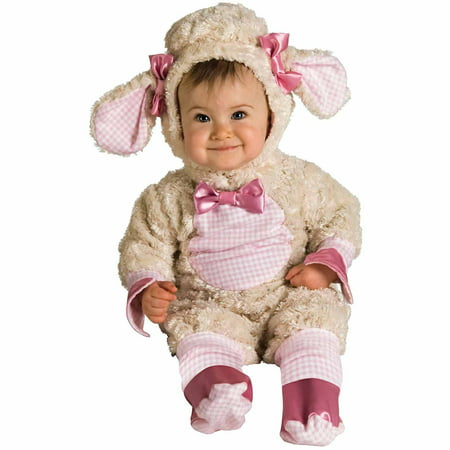 Pink Lamb Infant Halloween Costume, Size 6-12 Months - 7 Month Old Baby Halloween Costumes