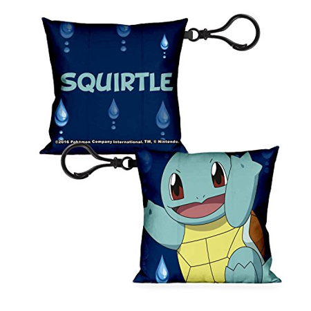 POKEMON Pillow Keychain - Squirtle Smiling with Water - Squirtle With Shades