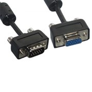 Eagle Electronics 180465SL 15Ft Slim Super Shield SVGA Male to Female Cable with Ferrite Core