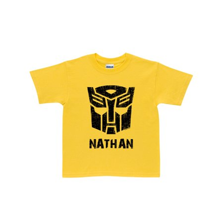 Personalized Transformers Rescue Bots Bumblebee Yellow Toddler Boys' T-Shirt