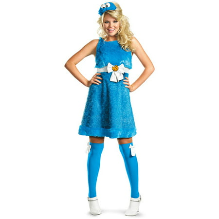Cookie Monster Adult Halloween Costume (Halloween City Cookie Monster)