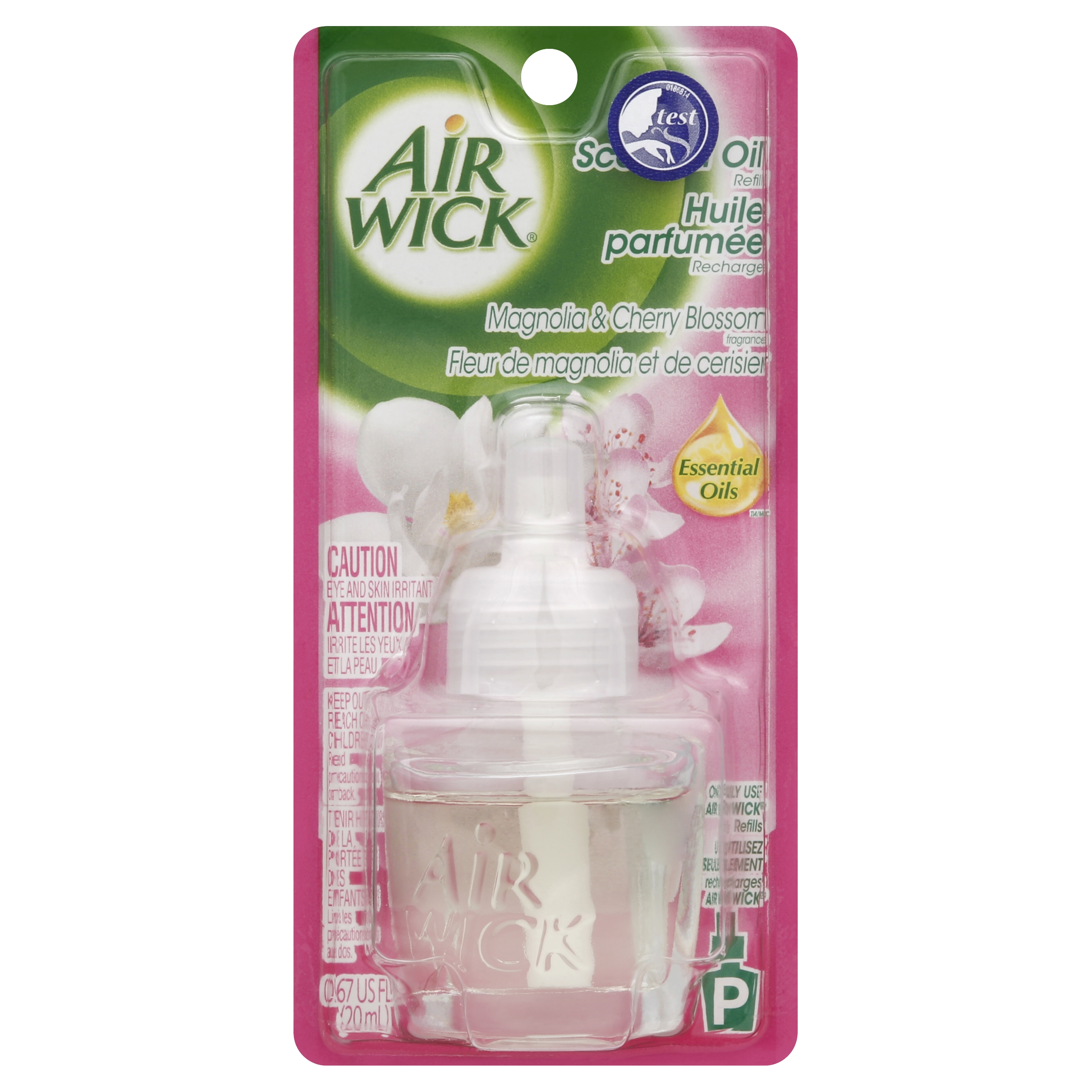 Air Wick Scented Oil Air Freshener, Magnolia and Cherry Blossom Scent, 1 Refill, 0.67 Ounce