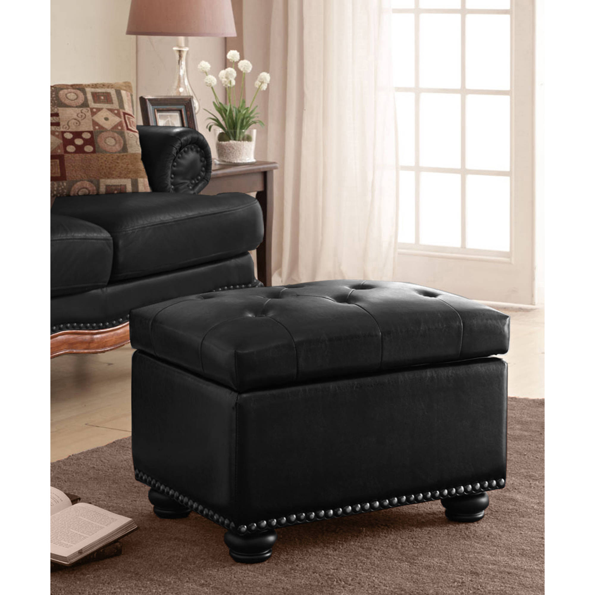 Convenience Concepts Designs4Comfort No Tools 5th Avenue Storage Ottoman, Multiple Colors