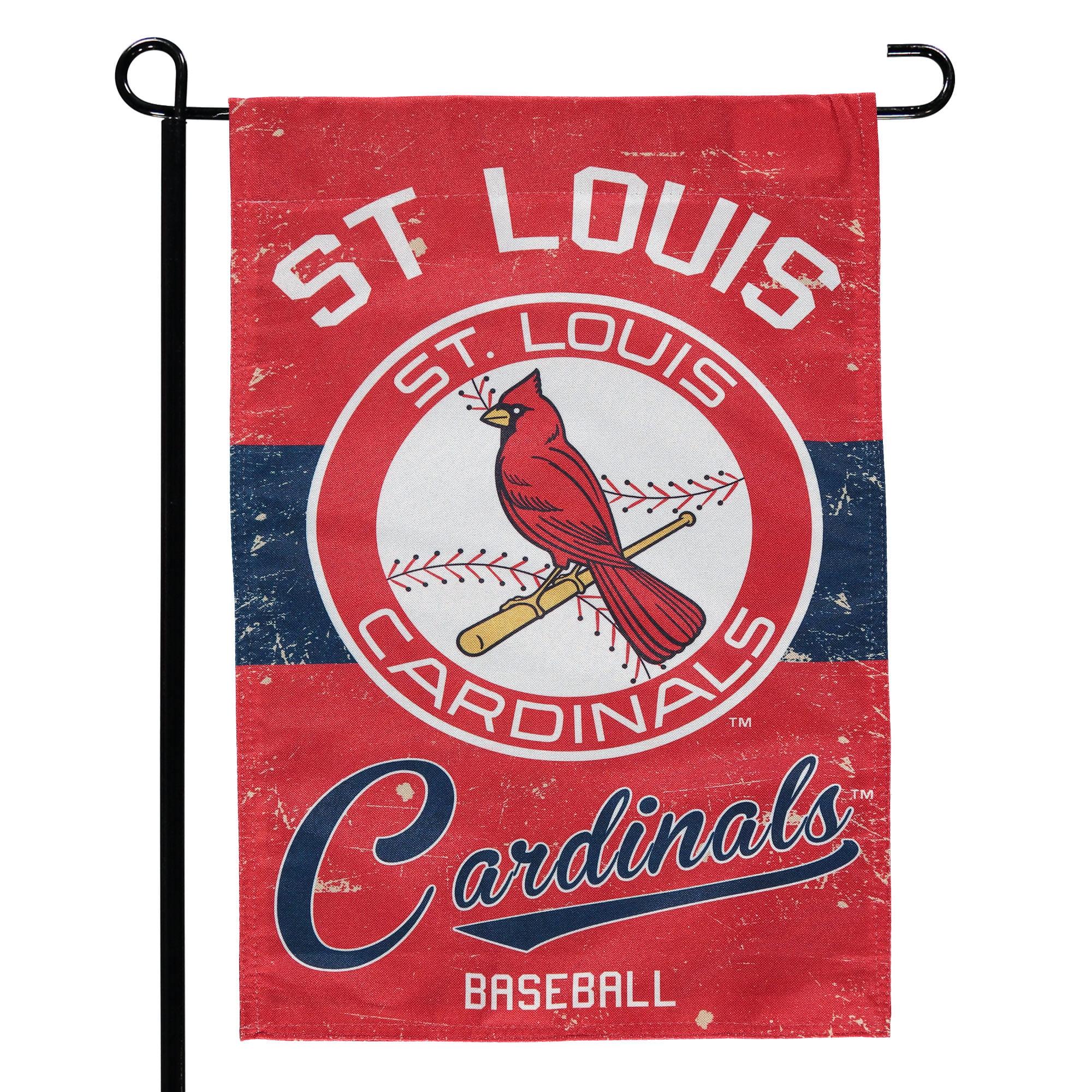 """St. Louis Cardinals 12.5"""" x 18"""" Vintage Linen Garden Flag - No Size"""