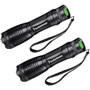 POCKETMAN LED Tactical Flashlight,Ultra Bright 1200 Lumens CREE XML-T6 Zoomable Handheld Flashlights Camping Torch 5 Modes for Indoor and Outdoor Sports(2 Pack)