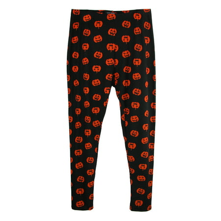 Just One Women's Plus Size Pumpkin Print  Halloween Leggings - Leggings Halloween