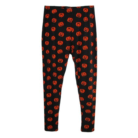 Just One Women's Plus Size Pumpkin Print  Halloween Leggings