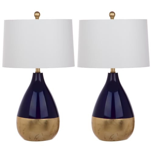 "Safavieh Kingship 24"" High Table Lamp with CFL Bulb, Multiple Colors, Set of 2"