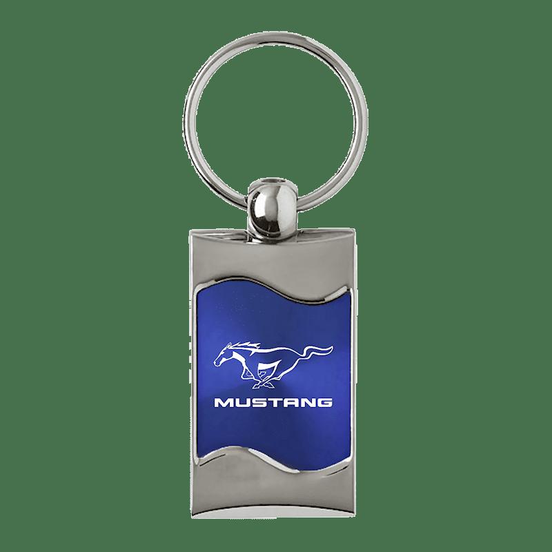 Au-TOMOTIVE GOLD Mustang Rectangular Wave Red Key Fob