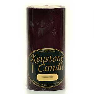 3 Pcs, Black Cherry 3x6 Pillar Candles 3 in. diameterx6.25 in. tall ()