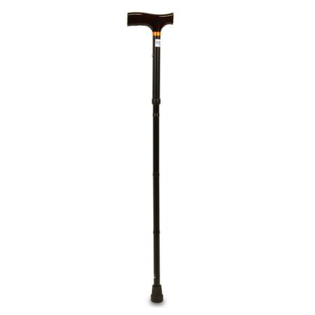 Equate Folding Cane, Black](Shepherds Cane)
