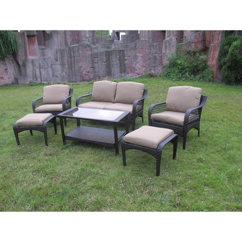 Mainstays Siesta 6-Piece Outdoor Conversation Set