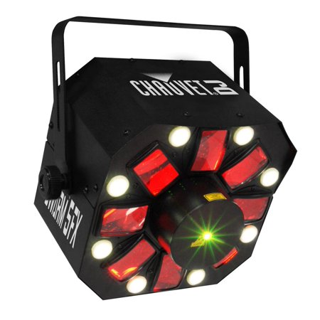 Chauvet DJ SWARM 5 FX RGBAW LED Active Derby, Strobe Laser Light Party (Chauvet Swarm Led)
