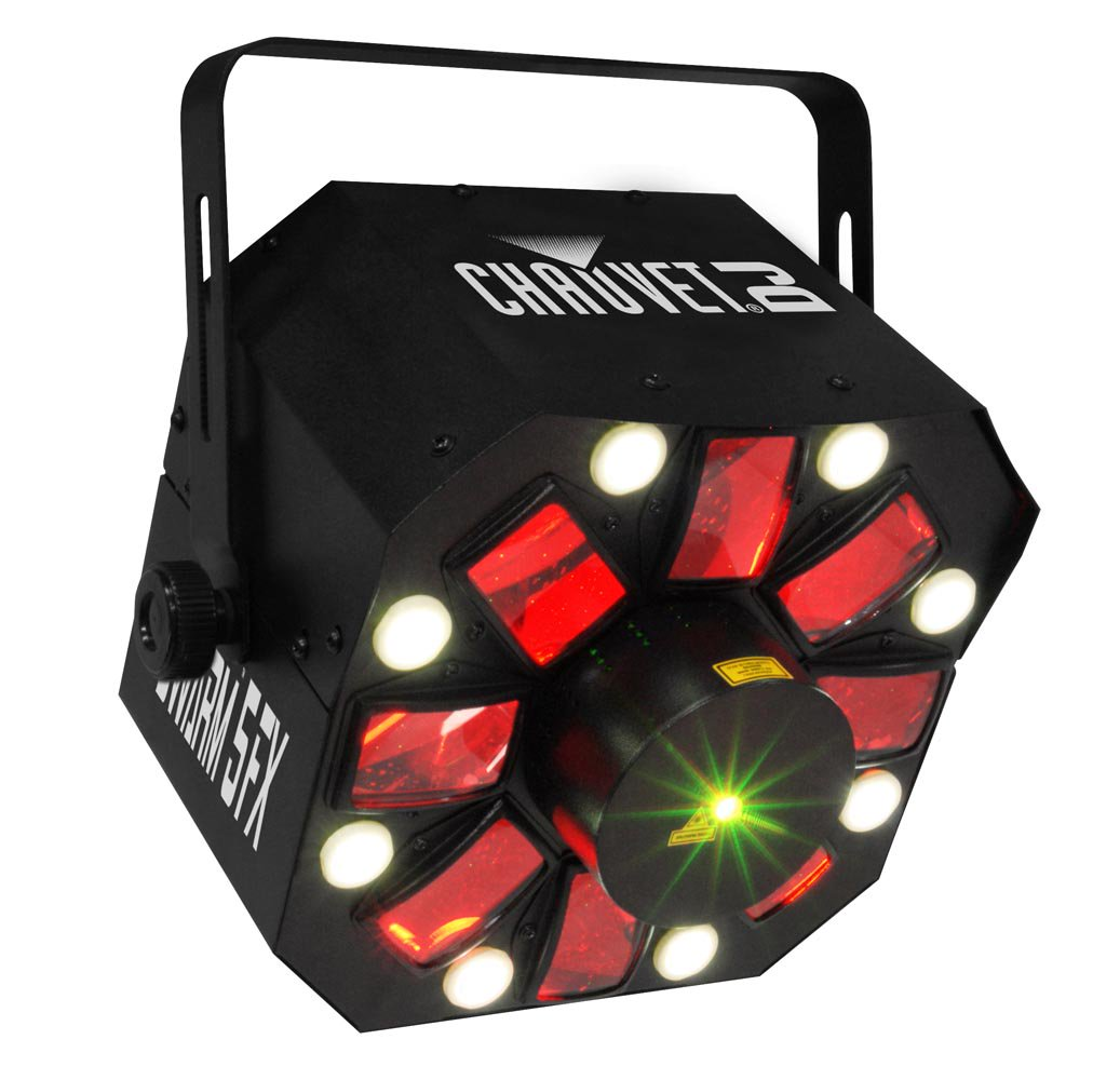 Chauvet DJ SWARM 5 FX RGBAW LED Active Derby, Strobe Laser Light Party Effect