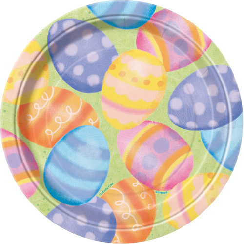 "7"" Easter Spring Paper Dessert Plates, 8ct"