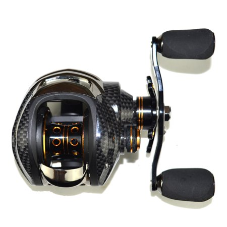 17+1BB Baitcasting Reel 7.0:1 Fishing Bait Casting Reel for Saltwater/Freshwater Fishing Size:Right