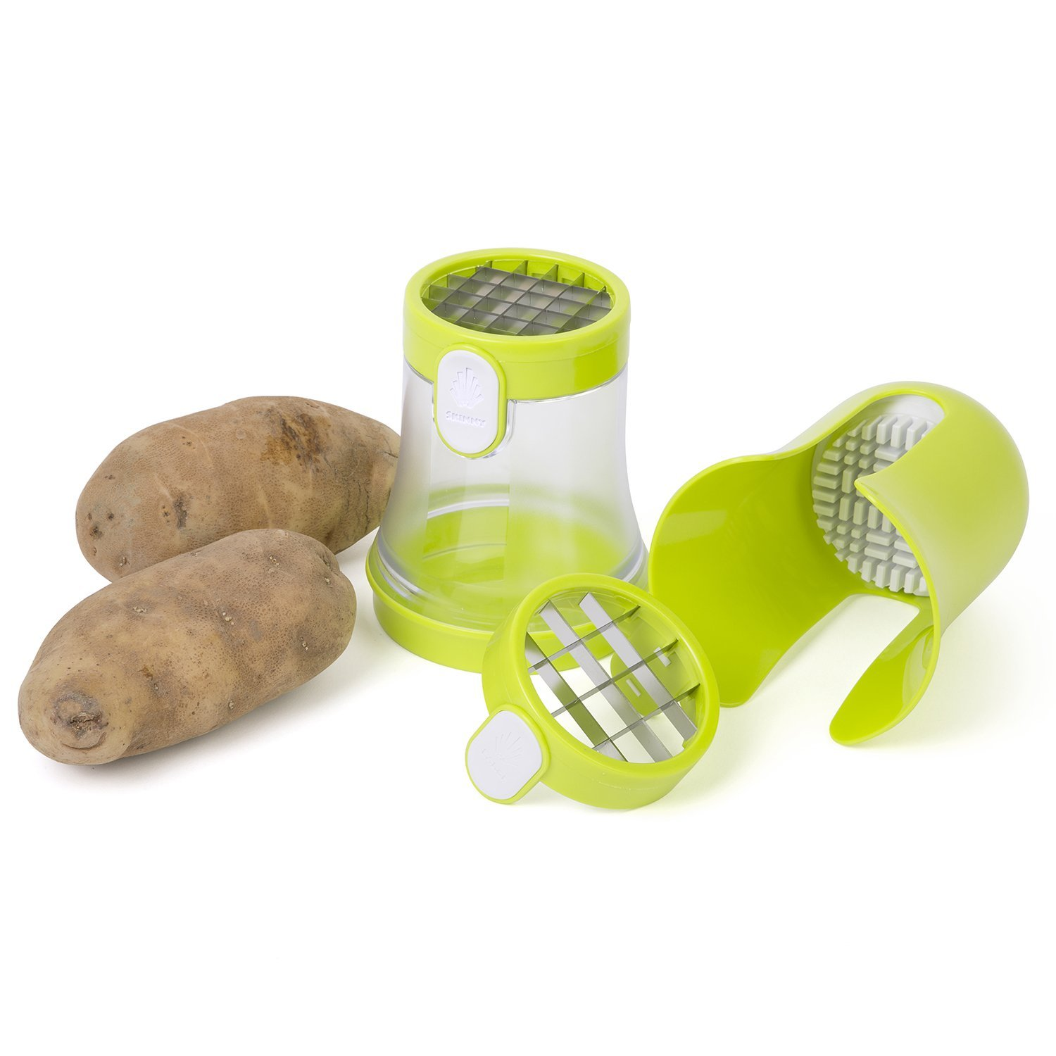 Jumbl Potato Dicer & French Fry Cutter with Dual Fry Size Blades Produces Skinny or Large... by Jumbl