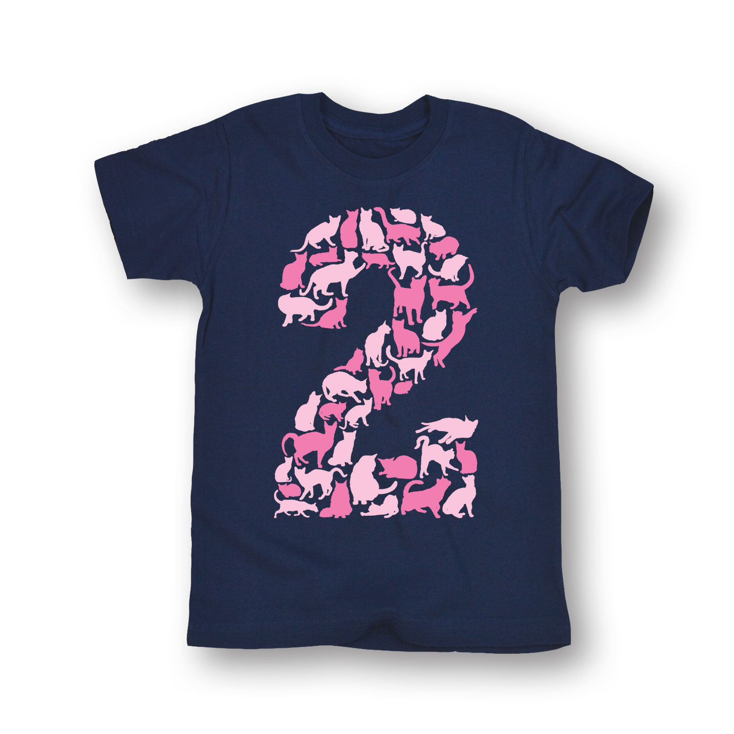 Age 2 Cats Girls-TODDLER SHORT SLEEVE TEE