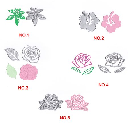 Flower Shape Cutting Dies Carbon Steel Rose Embossing Stencil Metal Mould DIY Scrapbook Photo Album Crafts - image 5 de 6