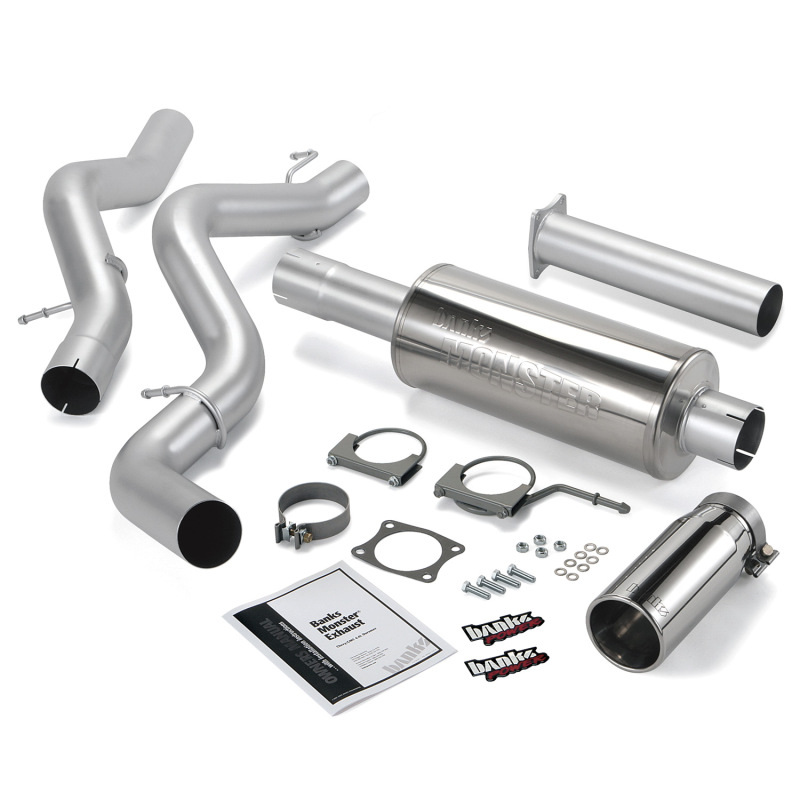 Banks Power 06-07 Chevy 6.6L CCSB Monster Exhaust System - SS Single Exhaust w/ Chrome Tip