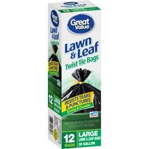Trash Bags: Great Value Lawn & Leaf Bags