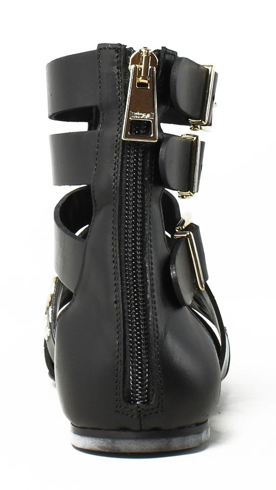 New Just Cavalli Womens Black Gladiators Size 7