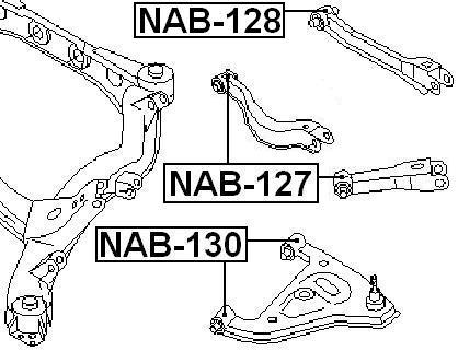 Febest Nab 127 Arm Bushing For Rear Arm Infiniti J30 Jpy32 1992