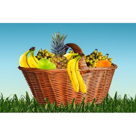 LAMINATED POSTER Fruit Food Pineapple Fruits Eat Fruit Basket Poster Print  24 x 36