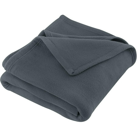 JMR Beige Soft Warm Twin Size Fleece Blanket Throw Microfiber Plush Blanket for Home Couch, Bed, Camping, Traveling (66x90, Twin) (66 x 90, Charcoal Grey) Twin Blanket Throw