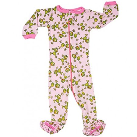 b8c6b7311 Elowel Pajamas - Elowel Little Girls Pink Frog Printed Zipper Footed ...