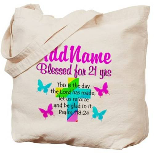 Cafepress Personalized Blessed 21 Yr Old Tote Bag