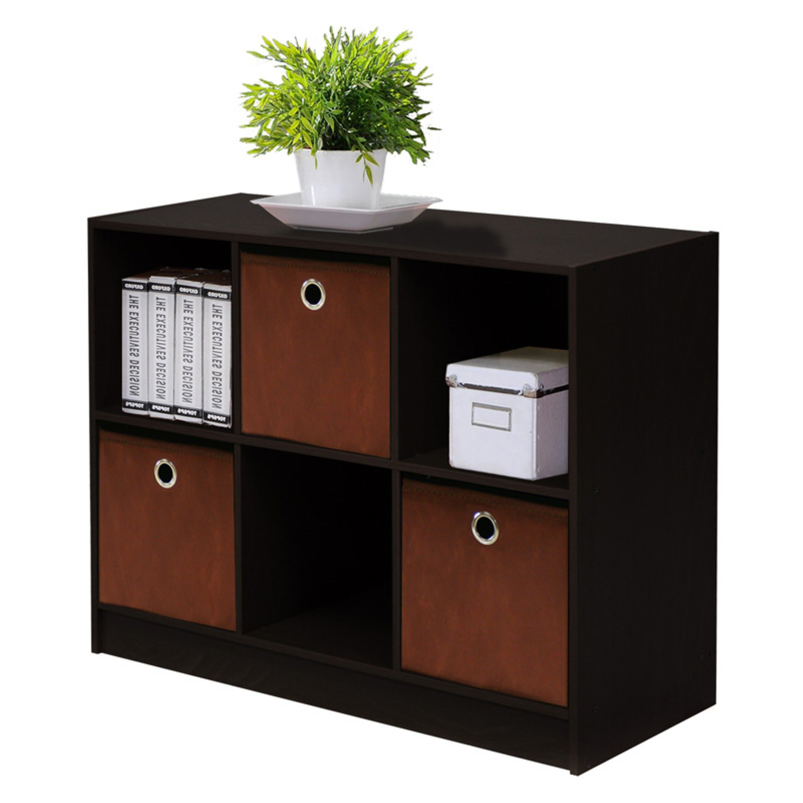 Furinno Basic 3x2 Bookcase Storage w/Bins, Multiple Colors